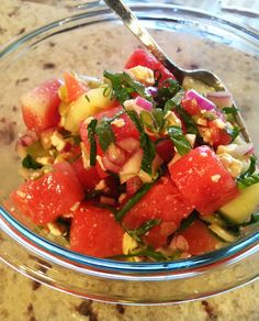 Juicily Delicious Watermelon Salad