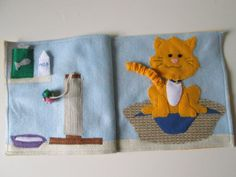 My Pet Cat Quiet Book Page  Busy Book by FreckledFelt on Etsy,