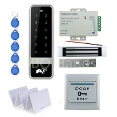 DIY RFID Waterproof Metal Door Access Control System Kit Set With 180KG Electric Magnetic Lock With 12V Power Supply With Keys