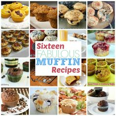 16 Muffin Recipes from This Gal Cooks featured at Thusday's Treasures