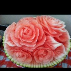 Amazing carved watermelon!