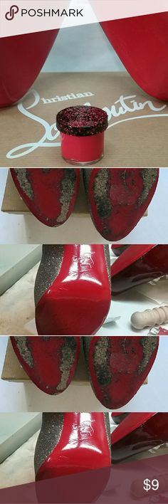 """Christian Louboutin style sole touch up Touch up for Christian Louboutin soles! Very close match but Not """"Christian Louboutin"""" brand. See before and afters. Can be used with or without a gloss top coat. I usually use a dab of clear gloss nail polish over the paint where I touch up. Works best when area is clean. Approx 1/2 oz jar. A little goes a long way, can be used for several touch ups. Free shipping on M e r c and E b a y. Christian louboutin Shoes Heels"""
