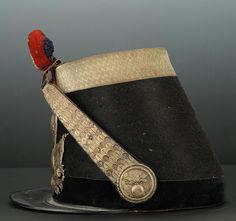 SHAKO DE COMMANDANT DE LA GARDE NATIONALE MOD�LE 1848, SECONDE R�PUBLIQUE.