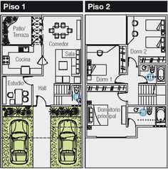 PLANO DE 120 M2 PARA CASA DE 8X15 METROS : PLANOS DE CASAS GRATIS Y DEPARTAMENTOS EN VENTA