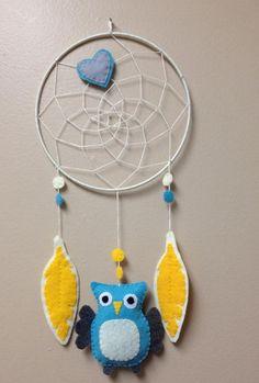 Felt Owl Dream Catcher Owl Dreamcatcher Nursery by JDimperfections