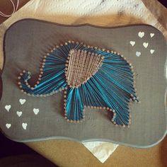 Ellie Elephant String Art by WildeAshDesigns on Etsy