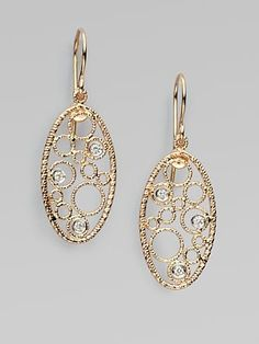 Roberto Coin Diamond Accented 18K Rose Gold Earrings. Available at Johnson's Jewelers Olde Raleigh!