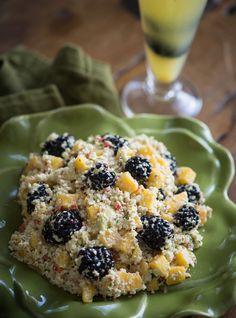 Raw Blackberry and Mango Almond Nut Pâté Salad - Rawmazing Raw Food