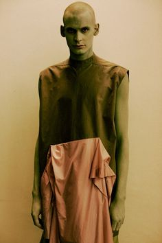 Green painted monsters at Rick Owens SS15, Paris menswear. More images here: http://www.dazeddigital.com/fashion/article/20540/1/rick-owens-ss15
