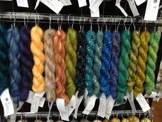 Adding blues and greens for Fall 2013 TNNA show--Silk Mohair, Mohair Glitter, Beaded Mohair & Sequins, Beaded Mohair