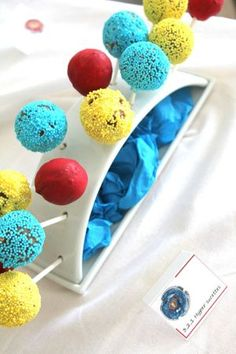 Cake pops - Anniversaire Beyblade - Beyblade Party