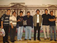 con los estudiantes de teología bolivianos en Bogotá
