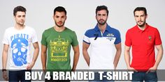 Buy 4 Stylish T-Shirts : Now at 999 only. you get positive experience with deal15.com