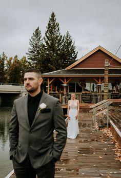Bride  Groom First Look on Wedding Day seasons of bowness Our Wedding Day, Calgary, Bride Groom, That Look, Seasons, Weddings, Photography, Fashion, Moda