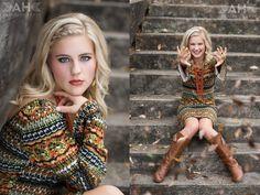 www.amandahollowa...  Amanda Holloway Photography    fall inspired senior portraits, fall leaves, hippy