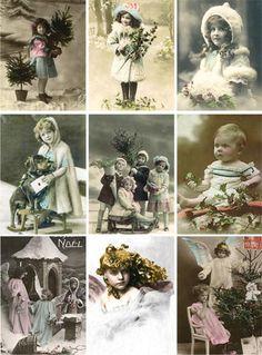 €0.85 Leikkuu-arkki childhood  TAI muut, samantyyliset vintage-kuvat /arkit