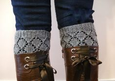Knitted Boot cuffs  Knit boot toppers Boot Cuffs Boot by AllSoCute, $30.00