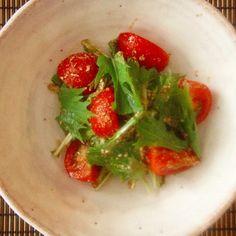 トマトと水菜のナムル