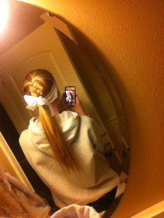 love this is how i fix my hair during softball becase my hairs out of my way