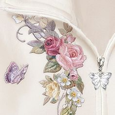 Women's Hoodie: Lena Liu Floral Cascade - detail
