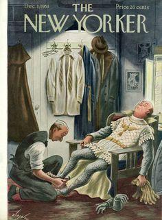 Constantin Alajálov : Cover art for The new Yorker 1398 - 1 December 1951