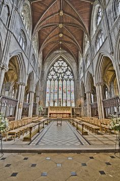 Here is a photograph taken from the Choir inside Ripon Cathedral.  Located in Ripon, Yorkshire, England, UK. tags: ripon cathedral  interior inside yorkshire england uk