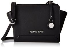 Armani Jeans Printed Eco Leather Crossbody Black * You can get more details by clicking on the image.Note:It is affiliate link to Amazon.