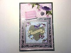 Hochzeitskarten - Karte Verlobung Nr. 568 - ein Designerstück von MM-Bastelparadies bei DaWanda
