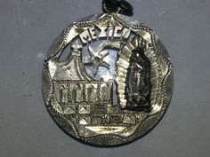 1920s Mexican silver 50 cent piece Artfully worked into a pendant