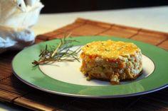 Receita de torta de milho verde, cenoura e agrião.