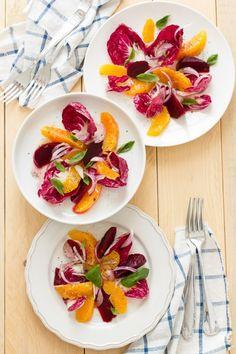 """Insalata di Arance e radicchio per stare leggeri e il decalogo """"Winter salad with oranges and red chicory"""""""