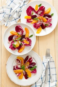 "Insalata di Arance e radicchio per stare leggeri e il decalogo ""Winter salad with oranges and red chicory"""