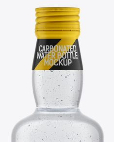 Fizzy Water Bottle with a Screw Cap Mockup. Visualize your own amazing ideas on this photorealistic mockup of a fizzy water bottle with a screw cap. Glass Water Bottle, Glass Bottles, Drink Bottles, Bottle Bottle, Screw Caps, Mineral Water, Bottle Mockup, Clear Glass, Soft Drink