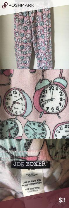 Alarm clock PJ pants Alarm clock pj pants from Joe Boxer, size small Joe Boxer Intimates & Sleepwear Pajamas