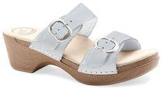 The Dansko Sophie from the Sausalito collection in White Patent