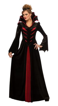medieval high collar dress | Queen of the Vampires Adult