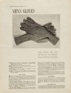 1940s Patterns to Knit | V  gloves