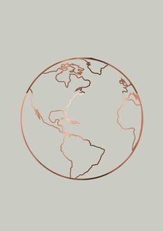 Copper Foil Travel Prints Set Of 3 Travel Posters Wanderlust Definition Copper Globe Travel Inspiration Travel Art World Print - Wallpaper Quotes Tumblr Wallpaper, Wallpaper Quotes, Wallpaper Backgrounds, Wallpaper Earth, Iphone 7 Wallpaper Rose Gold, Heart Wallpaper, Trendy Wallpaper, Aesthetic Iphone Wallpaper, Aesthetic Wallpapers