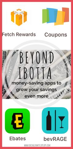 We all love to save on groceries with Ibotta, but don't miss these apps to grow your savings even more. The best ways to save money on everyday purchases! #coupons #savemoney
