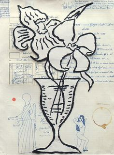 Flowers, 1993 by Donald Baechler #ArtspaceFaves