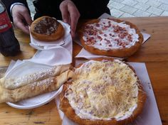 Lángos and pancake, tipical Hungarian lunch on sunday ;)