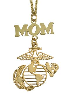 Women's Marine Mom Gold or Silver Necklace