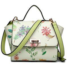 Miss Lulu London - Miss Lulu bőr stílus virágos Print Winged táska… Handbag    Heel · Shoulder Bags 5dbd3e058c99e