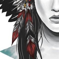 Sketches of Native American Girl - Bing Images More