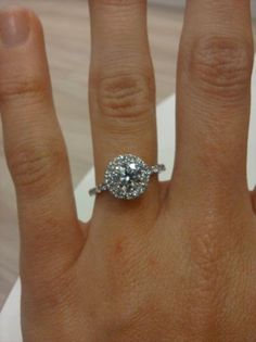 A family friend's daughter just got engaged the other day.  I'm drooling over her gorgeous ring!