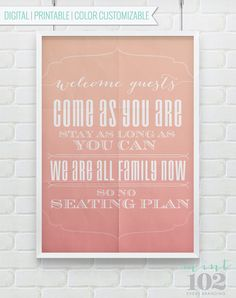 Printable Wedding Seating Plan  Color Customizable to by Mint102, $12.00
