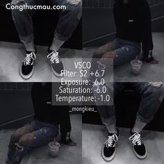 Công thức VSCO tone màu đen tối cực chất