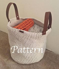 Looking for a project to do to help you get organized? Then check out this DIY crochet pattern. This basket is perfect for beginners, because it only requires you to know one stitch! This storage basket has multiple uses, such as a place to store your shoes, put in a nursery, or to