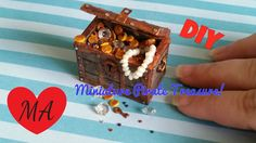 MINIATURE treasure trunk TUTORIAL // DIY // Dollhouse - YouTube