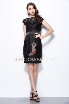 Beautiful Short Lace Bridesmaid Dress Button Back with Cap Sleeves